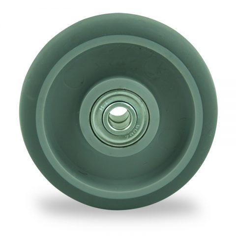 Ruota 125mm per carelli di gomma sintetica grigio,Doppi cuscinetti a sfere
