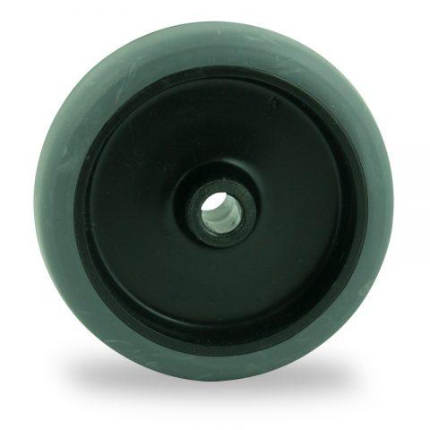 Ruota 50mm per carelli di gomma sintetica grigio,foro liscio
