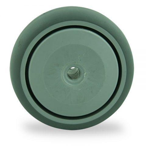 Ruota 75mm per carelli di gomma sintetica grigio,Precisione singolo cuscinetto