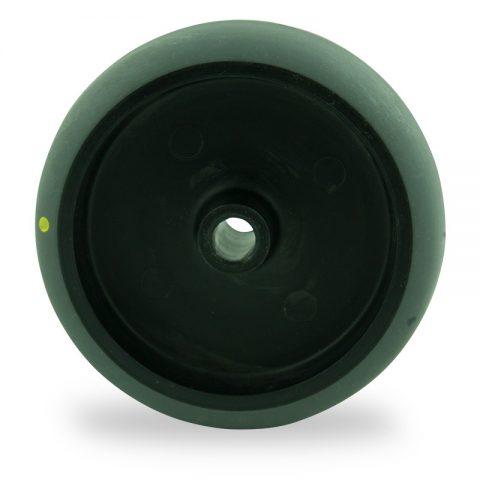 Ruota 75mm per carelli di condutive gomma sintetica grigio,foro liscio