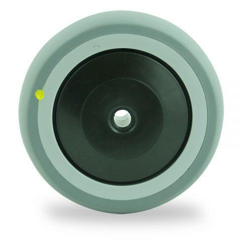 Ruota 125mm per carelli di gomma sintetica grigio,Precisione singolo cuscinetto